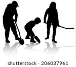 family working together | Shutterstock .eps vector #206037961