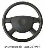 steering wheel isolated on... | Shutterstock . vector #206037994