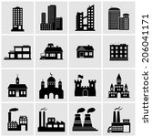 building icons | Shutterstock .eps vector #206041171
