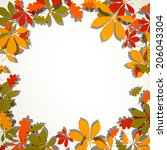vector illustration of autumn... | Shutterstock .eps vector #206043304