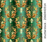 gold baroque old style seamless ... | Shutterstock .eps vector #2060443514