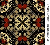 floral vintage seamless pattern.... | Shutterstock .eps vector #2060443574