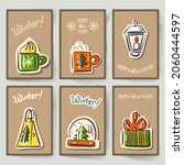 set of greeting cards for... | Shutterstock .eps vector #2060444597
