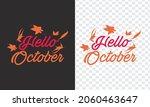 hello october month hand... | Shutterstock .eps vector #2060463647