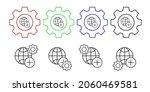 plus vector icon in gear set...