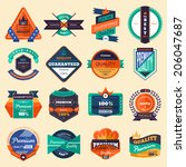 badges vector set | Shutterstock .eps vector #206047687