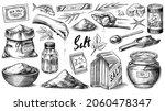 sea salt set. glass bottles ... | Shutterstock .eps vector #2060478347