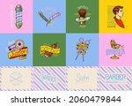 barber shop badge and label ... | Shutterstock .eps vector #2060479844