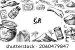 sea salt poster or banner.... | Shutterstock .eps vector #2060479847