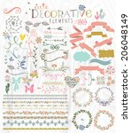 cute stylish decorative... | Shutterstock .eps vector #206048149