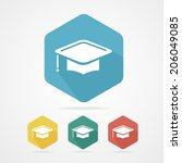 education cup flat icon.... | Shutterstock .eps vector #206049085