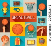 sports background with...   Shutterstock .eps vector #206051641