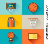 sports background with... | Shutterstock .eps vector #206051644