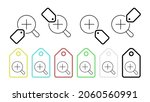 magnifying glass vector icon in ...