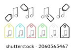 music note vector icon in tag...