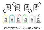 badge vector icon in tag set...