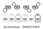 open box vector icon in tag set ...