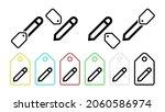 a pen vector icon in tag set...