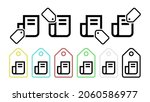 newspaper vector icon in tag...