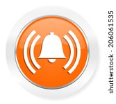 alarm orange computer icon | Shutterstock . vector #206061535