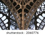 Detail Of Eiffel Tower  Paris.