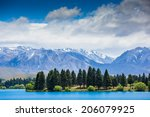 majestic mountain lake... | Shutterstock . vector #206079925