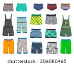 shorts and panties for little... | Shutterstock .eps vector #206080465