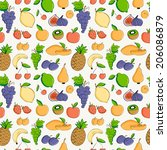 cute seamless pattern of hand... | Shutterstock .eps vector #206086879