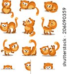 playful cats. set for page... | Shutterstock .eps vector #206090359