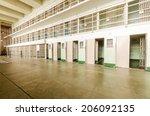 the jail cells inside the... | Shutterstock . vector #206092135
