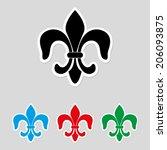 fleur de lis    icon vector | Shutterstock .eps vector #206093875