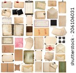 aged paper sheets  books  pages ... | Shutterstock . vector #206106031