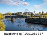 View Of The Spokane River Near...