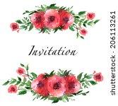 border  postcard template ...   Shutterstock .eps vector #206113261