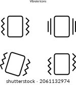 vibrate icons isolated on white ...