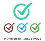 set of check mark icon. tick ...   Shutterstock .eps vector #2061149021