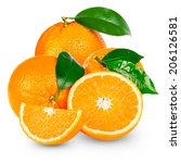 orange isolated | Shutterstock . vector #206126581