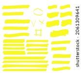 highlight yellow strokes.... | Shutterstock . vector #2061309641