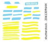 yellow highlighter brush lines. ... | Shutterstock . vector #2061309644