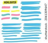 marker marks. yellow marker... | Shutterstock . vector #2061309647
