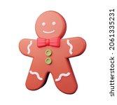 3d illustration of gingerbread...
