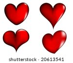 red hearts | Shutterstock .eps vector #20613541