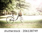Bicycle In The Park With Retro...