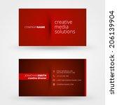 business card template vector...   Shutterstock .eps vector #206139904