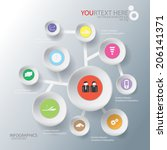 illustration circle vector of... | Shutterstock .eps vector #206141371