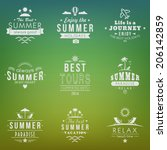summer retro design elements.... | Shutterstock .eps vector #206142859