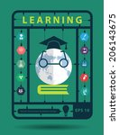 online learning idea concept...   Shutterstock .eps vector #206143675