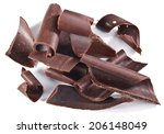 chocolate blocks isolated on a... | Shutterstock . vector #206148049