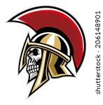 warrior skull | Shutterstock .eps vector #206148901