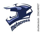 motocross helmet   Shutterstock .eps vector #206148907